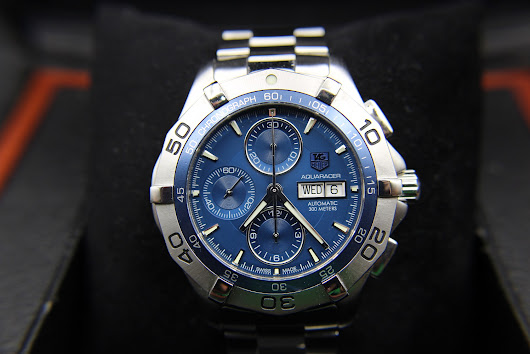 [FOR SALE] TAG HEUER AQUARACER AUTOMATIC CHRONOGRAPH CALIBRE 16 BLUE DAYDATE CAF2012 (FULLSET)