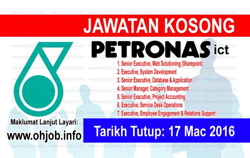 Jawatan Kerja Kosong Petronas ICT Sdn Bhd logo www.ohjob.info mac 2016