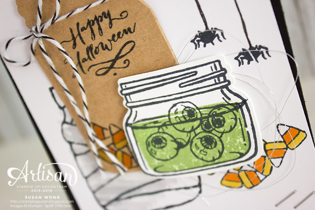 Jar of Haunts Halloween Card ~ Susan Wong
