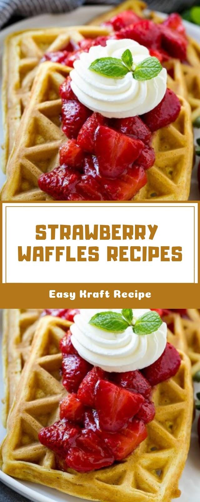 STRAWBERRY WAFFLES RECIPES