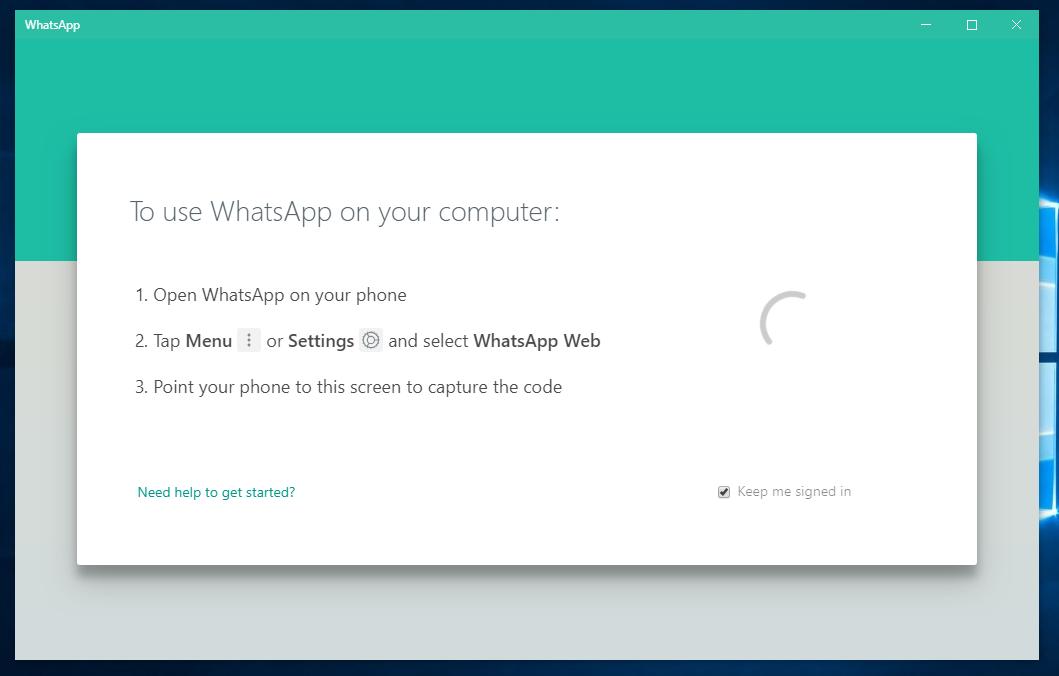 Instal WhatsApp Dekstop Windows 10