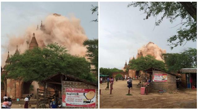 Dunia Geger,,, Video Sejumlah Pagoda Runtuh Akibat Gempa 6,8 SR di Myanmar