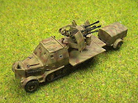 Sd Kfz 7 / 1 Flakvierling 4 x 20mm. Armoured version.