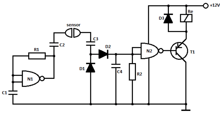 water sensor circuit with alarm