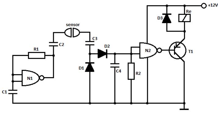 water sensor circuit with alarm