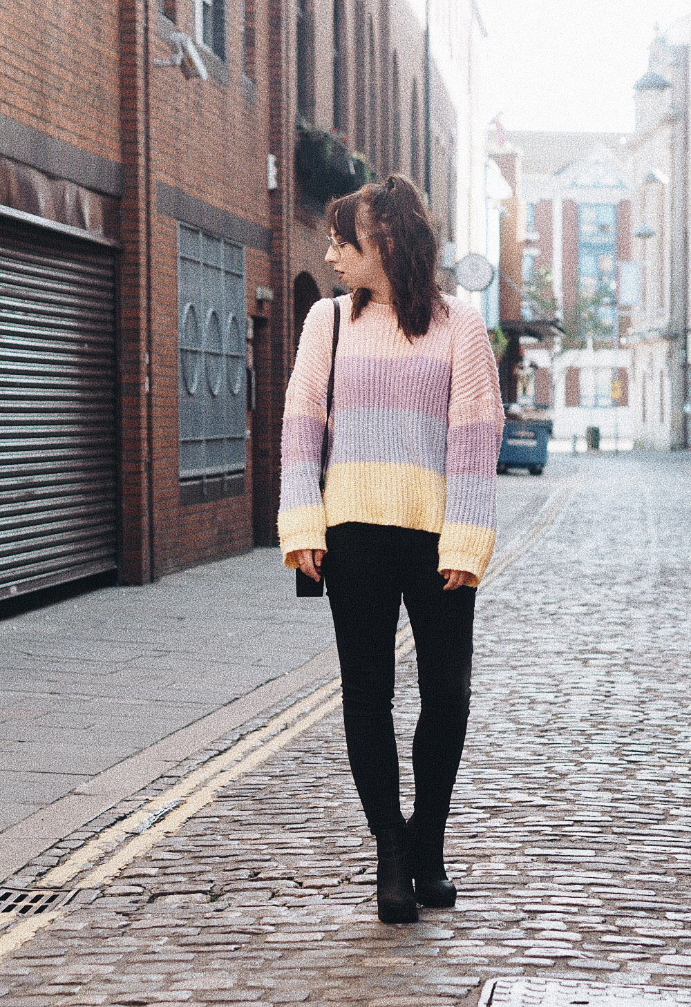 the multi coloured sweater i can't get enough of missguided personal style fashion 5