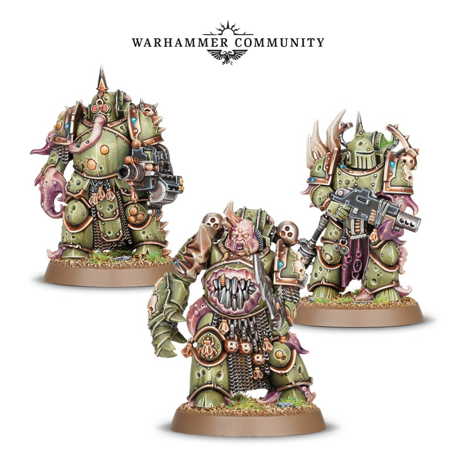"However GW are not making it easy. This morning they released pictures of three new Death Guard marines. These are billed as ""Easy to Build"" so I am ..."