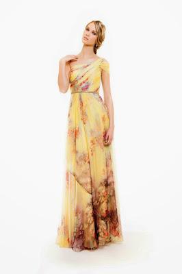 vestido largo amarillo invitada boda