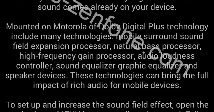 Dolby Digital for Asus Zenfone (NO Root) ~ Asus Zenfone Blog