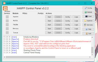 Index Attacker - Cara atasi apache di xampp error ( tidak bisa di start )