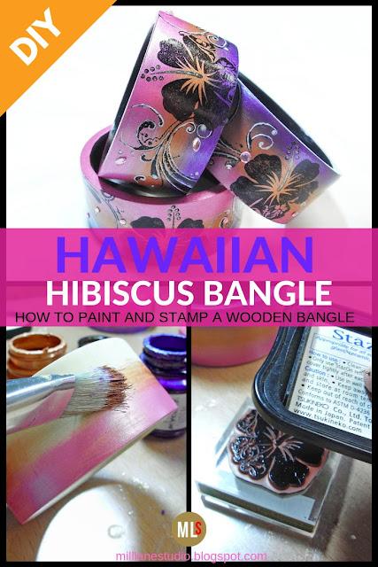 DIY Hawaiian Hibiscus Bracelet inspiration sheet