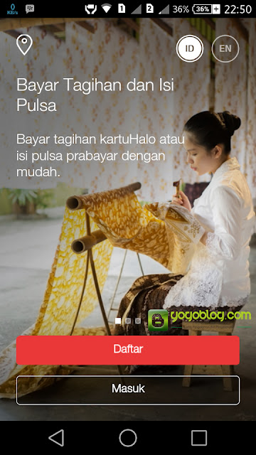 Halaman Login My Telkomsel