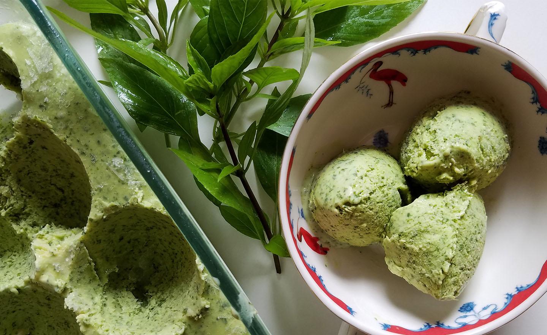 66 Square Feet (The Food): Basil and lemon curd ice cream