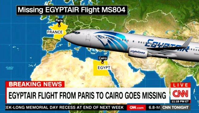 Pesawat EgyptAir Dari Paris Ke Kaherah Hilang Dari Radar