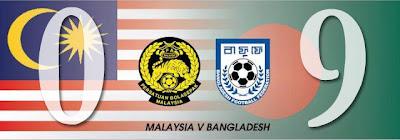 Gambar Malaysia dibelasah Bangladesh 0-9