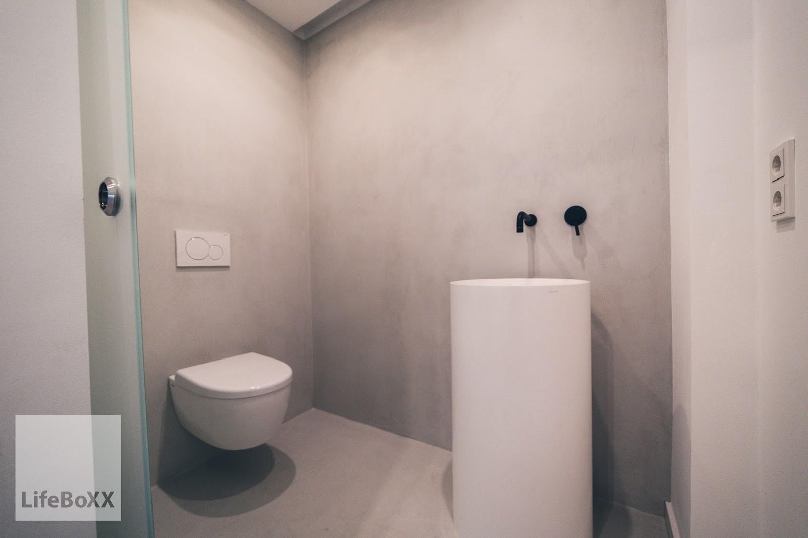 Toilet Beton Cire : Wand wohndesign beton cire