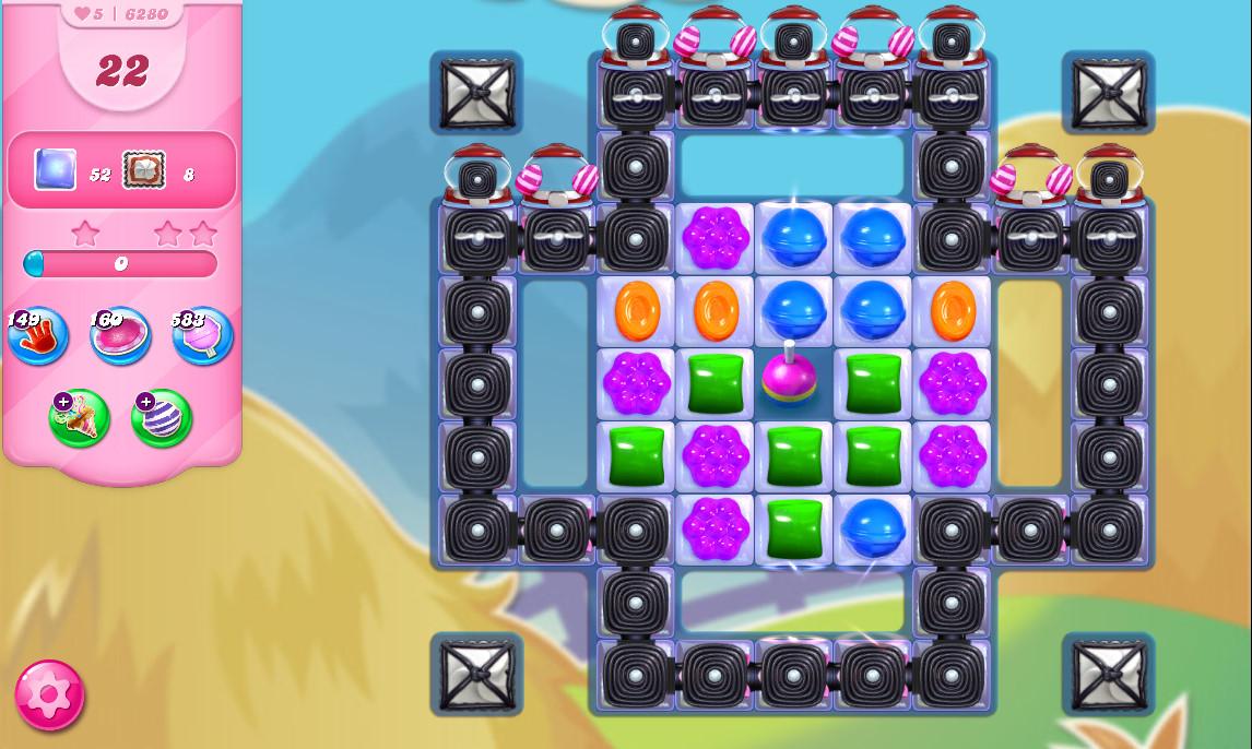 Candy Crush Saga level 6280