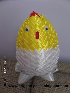 wielkanoc, ozdoba, wstążka, żółty, biały, kurczak, alleluja, rękodzieło, handmade,