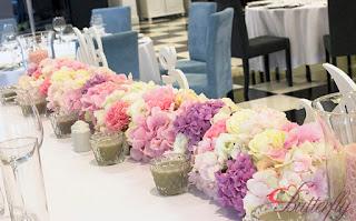 Dekoracja weselna w Białej Wstążce w Czepinie Butterfly Decor