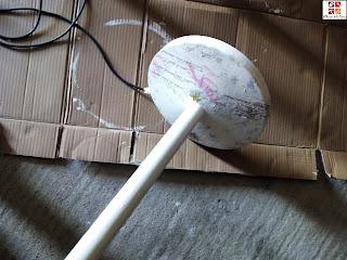 tunear una lámpara con pintura a la tiza