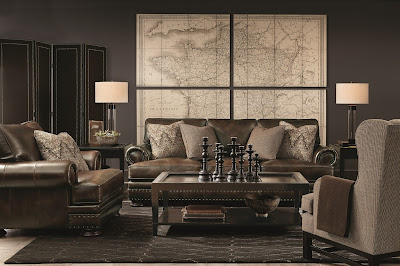 bernhardt leather couch at baer's furniture store