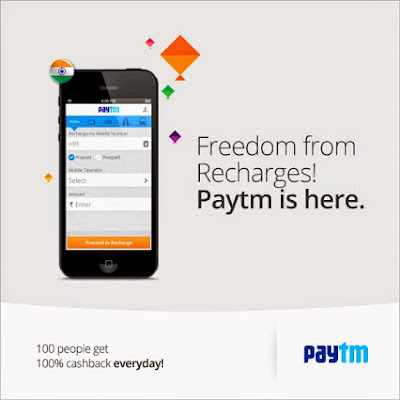 Recharge & Bill Payment upto Rs. 300 Cashback @ PayTm August Promo Codes