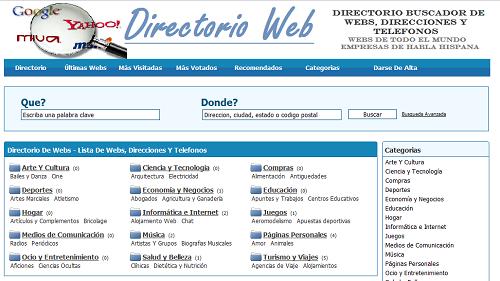 Directorios para Publicar Blog o Sitio Web