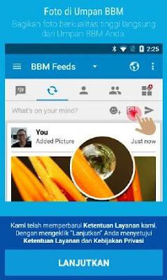 Cara Update Status Posting Foto di BBM Android Terbaru