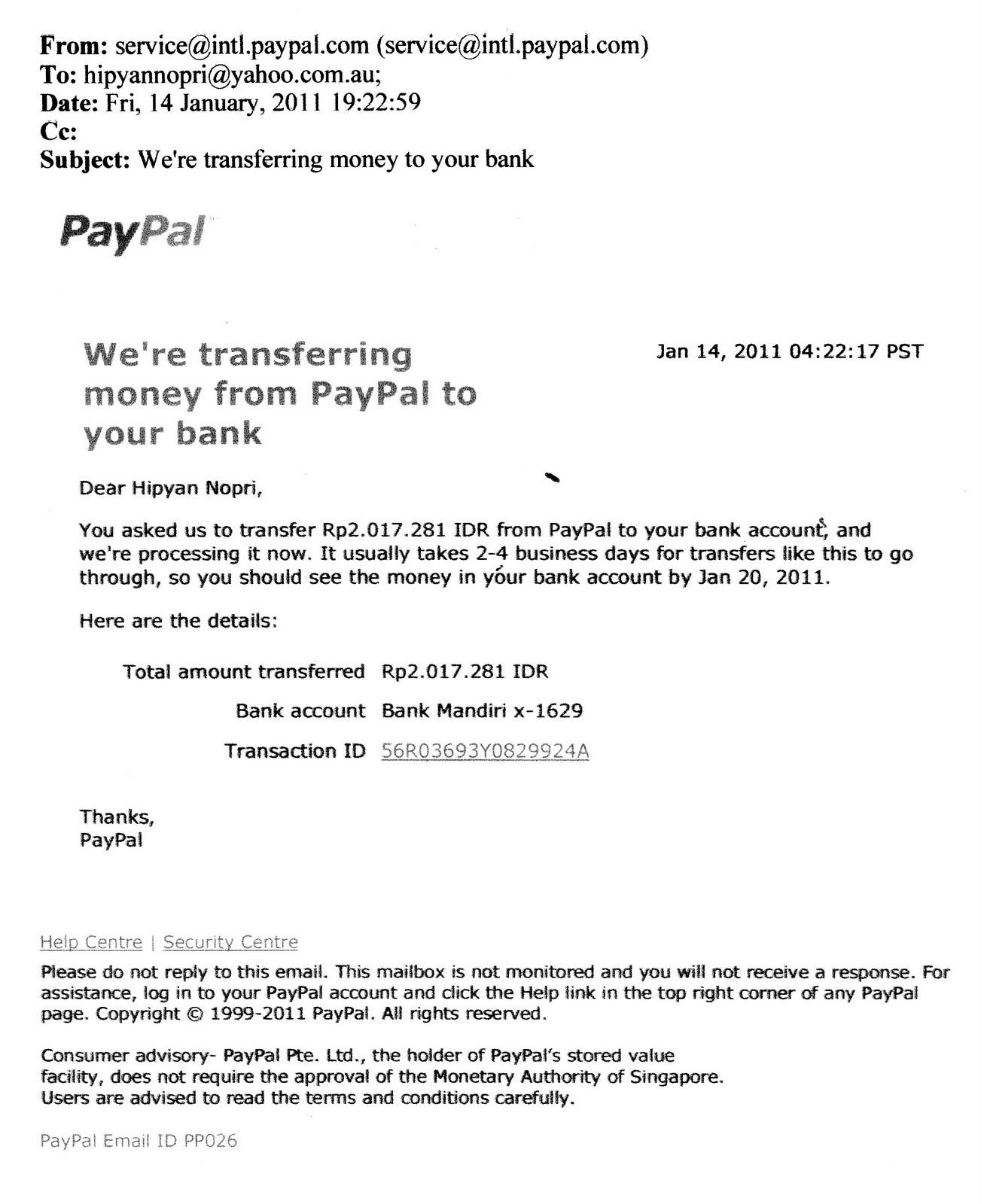 Contoh kwitansi pembayaran dalam bahasa inggris