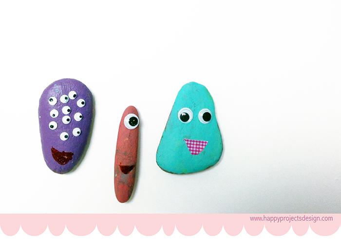 DIY piedras monstruito