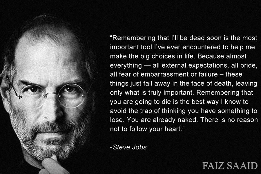 steve job ingat mati untuk bantu buat keputusan
