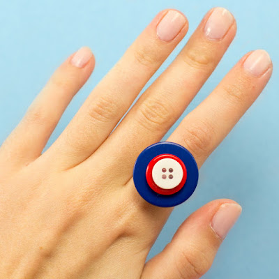 Creating an Independence Day Button Ring