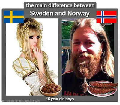 Lustiger Metal Vergleich - Norwegen und Schweden