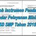 Contoh Instrumen Pendataan Standar Pelayanan Minimal SD SMP Tahun 2018