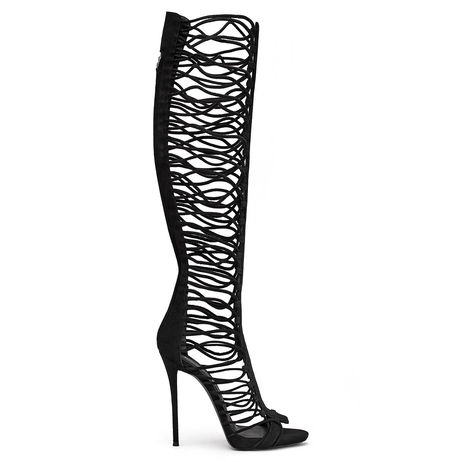 Zoey corded boots by Giuseppe Zanotti