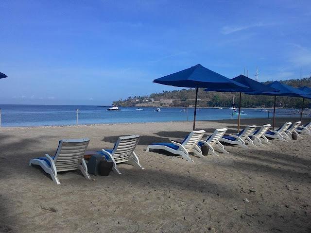 foto pemandangan pantai senggigi