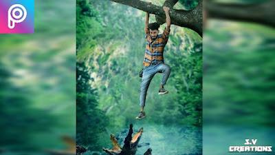 Alligator Attack | PicsArt Editing |Manipulation Editing | picsart manipulation| movie poster