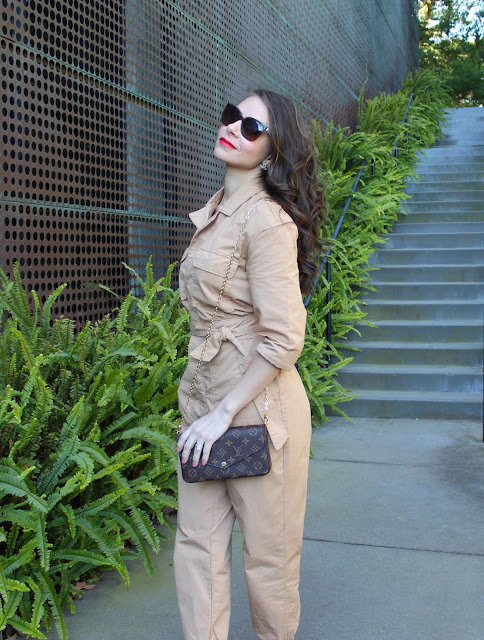 asos boiler suit, manolo blahnik, boiler suit, jumpsuit, chanel earrings