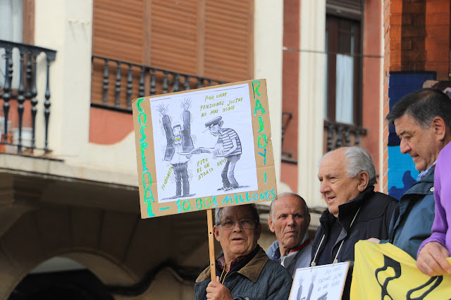 protesta pensionistas y jubilados