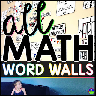 math word wall bundle