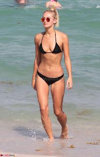 Selena Weber in Black Wet Tiny Bikini Lovely  Super  Tenned Body April 2nd 2017