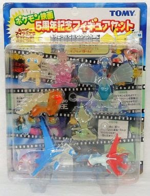 Mew figure clear version Tomy Monster Collection 2002 movie 5th anniversary set
