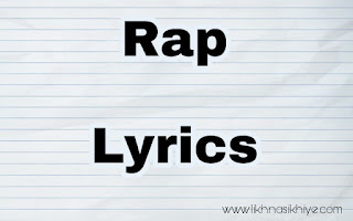 Rap song lyrics