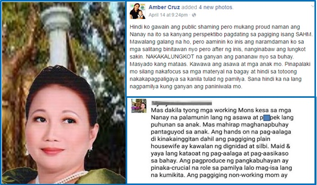 Pinay working mom allegedly shames stay-at-home moms