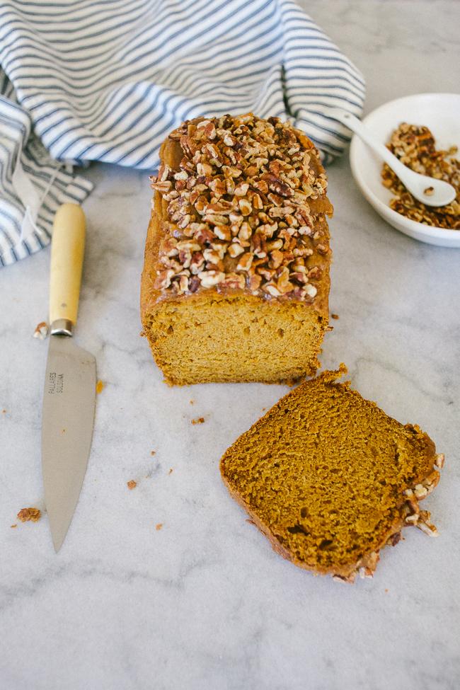 Pumpkin Loaf with Caramel Crunch