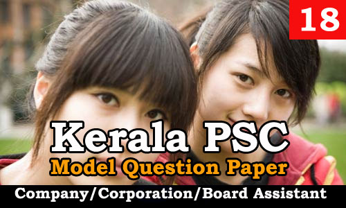 Model Question Paper Company Corporation Board Assistant - 18