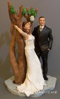 cake topper artistici anniversario idea regalo moglie statuine da foto orme magiche