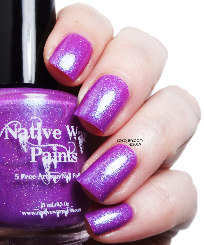 xoxoJen's swatch of Native War Paints Tread Softly