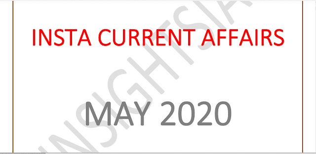 Insights IAS Current Affairs May 2020