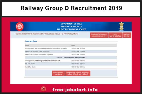 Railway Group D Recruitment 2019: Notification of 1 lakh recruitment of Railway Group D continues, Apply now